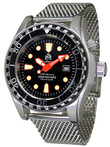 Tauchmeister Germany Pro T0259MIL - Reloj de Buceo (1000 m)