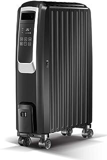 WLJQNQ Calentador eléctrico, Negro 2200W Ajuste del termostato de Calor del Aceite Vertical 3 Configuraciones de calefacción con Control Remoto Radiador eléctrico