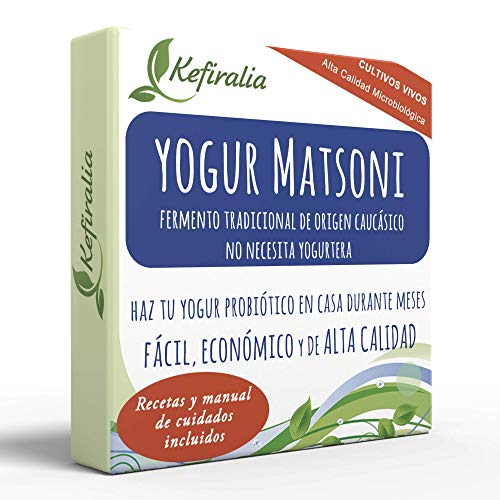 Fermento de Yogur Matsoni (Reusable de forma ilimitada) + Instrucciones