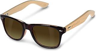 Navaris occhiali da sole in legno UV400 - occhiali con astine in bambù unisex uomo donna - con custodia vintage - diversi ...