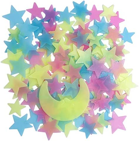 Glow in The Dark Stars for Celling Glowing Stars Wall Decals 150pcs Plastic Stars Wall Sticker product image