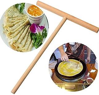 Kamenda Praktisk T-form Crepe Maker pannkaka smet träspridare pinne hem kök verktygssats gör-det-själv användning 1 st