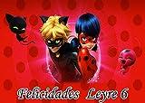 OBLEA de Ladybug Personalizada con Nombre y Edad para Pastel o Tarta, Especial para cumpleaños,...