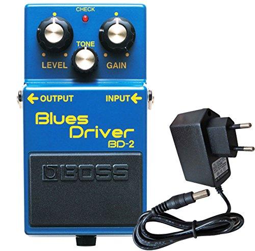 Boss BD-2 Blues Driver Effektgerät für Gitarre + keepdrum Netzteil 9V