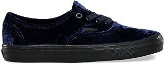 Vans Unisex Authentic Velvet Skate Shoes-Velvet Navy