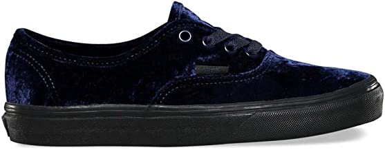 Vans Authentic Velvet Navy/Black Women's Classic Skate Shoes Size 8