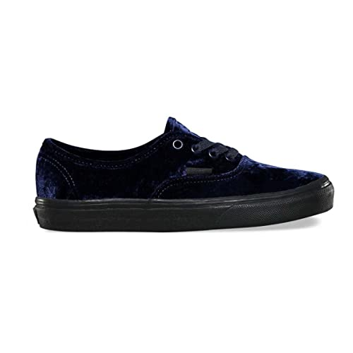Vans Authentic Womens Velvet Navy Blue Black Soft Shoes 5ae1f11c3