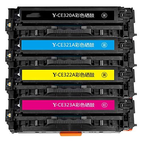 XHJZ Kompatible Tonerkartusche Ersatz für CE320A, High Yield Arbeit mit HP Color Laserjet Pro MFP HP CP1525n 1525NW CM1415fnw, 4er-Pack (Schwarz, Cyan, Magenta, Gelb)