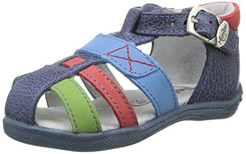 Minibel Karwin, Chaussures Premiers Pas, Bleu (10 Jean/Vert/Rouge), 23 EU