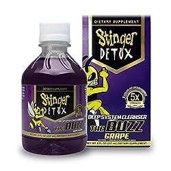 professional Stinger Detox Buzz 5X Extra Strength Drink – Grape Flavor – 8 Floss