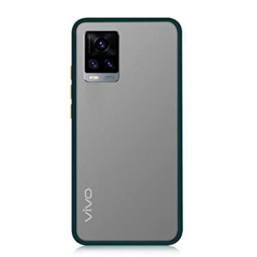 Pingin Smoke Case for Vivo V20 Pro Back Cover Matte Surface Back Panel with TPU Edges Perfect to Protect Vivo V20 Pro with Case On (Vivo V20 Pro Smoke Case, Deep Green)