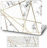 Funda rígida de mármol para MacBook Air de 11 pulgadas 2015-2012, modelos: A1465/A1370 cubierta mate con cubierta de teclado AQYANGELL -Mix Marble
