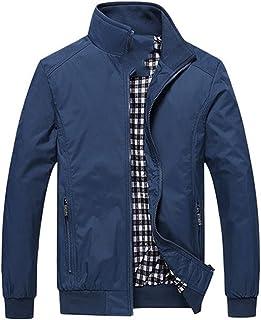 Men's jacket men's high casual jacket solid color coat