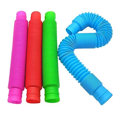 xfyx Pop Tubes Sensory Toys, Fine Motor Skills Toddler Toys, Fidget Toys for Sensory Kids and Learning Toys, Fine Motor Skills for Toddlers, Kids & Adults - Best Present Idea 2021 & Top Birthday Gift