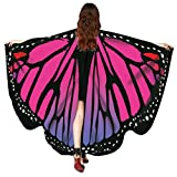 Huhu833 Schmetterling Kostüm, Damen Schmetterling Flügel Umhang Schal Poncho Kostüm Zubehör für...