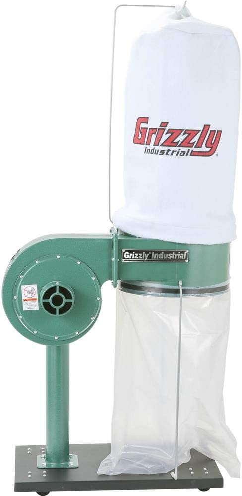 Grizzly Industrial G8027-1 HP Dust Collector - Vacuum And Dust Collector Accessories -