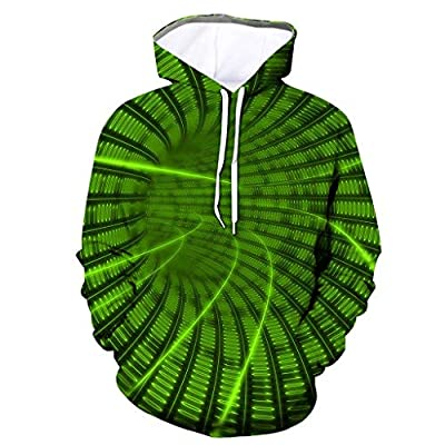 TIFENNY Unisex Hooded Men's Swirl 3D Printing Creative Hoodie Round Neck Casual Long Shirts Tops Blouse Pullover Hot