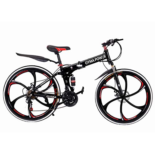 Mr.Tool Outroad Mountain Bike 21 Speed 26in Folding Bike Double Disc Brake Bicycles