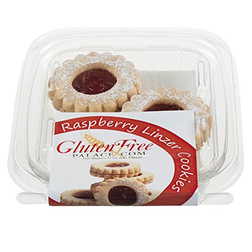 Gluten Free Linzer Cookies with Raspberry Jam, 2 Ounce [3 Count], Raspberry Shortbread Cookies, Kosher, Nut Free, Gluten Free Dairy Free Cookies by Gluten Free Palace