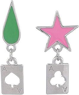 أقراط أنيمي هانتر x هانتر هيسوكا أقراط تأثيري نجوم الدمعة البوكر حلق مسمار للنساء الرجال حلق المجوهرات هدية الملحقات