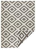 bougari Malta - Alfombra Reversible para Interior y Exterior (120 x 170 cm), Color marrón