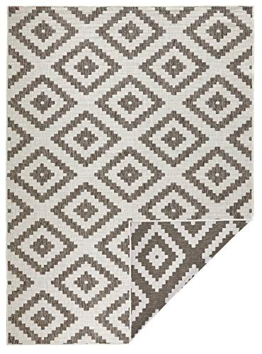 bougari In- & Outdoor Wendeteppich Malta Braun Creme, 80x150 cm