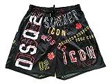 DSquared Costume da Bagno Uomo Boxer Shorts DSQ2 Icon D7N583190.996 Taglia 48