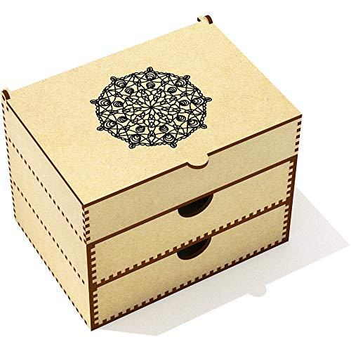Azeeda 'Motif Circulaire' Boîte de Maquillage (VC00013499)