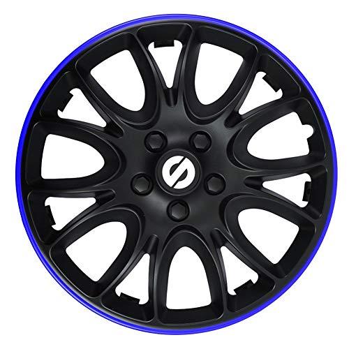 SPARCO SPC1594BKBL Jeu d'enjoliveurs Veneto 15-inch Noir/Bleu