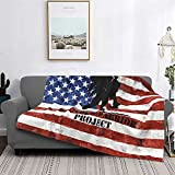 The Wounded Warrior Veteran's Ultra-Soft Micro Fleece Blanket Luxury Couch Blanket All Seasons Warm Blanket for Bedding Sofa