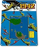 AOLINGSHI 12X16 Metal Signs - 1942 Classic Airplane Capcom Arcade Marquee Game Room Wall Decor