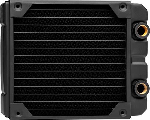 Corsair Hydro X Series, XR5 Radiador de Refrigeración Líquida (Una Montaje de Ventilador de 140mm, Fácil Instalación, Diseño Cobre Primera Calidad, Guías Tornillos Ventilador Integradas, Grueso) Negro