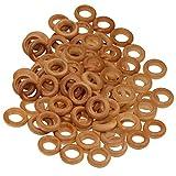 B Baosity 100er Pack Holzring Schmuck, Vorhangringe, Ringe aus Holz, Baby Spielzeug