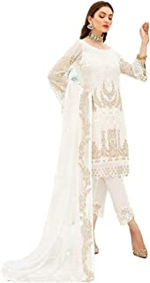 Women Designer Salwar Suit   Dress Material Unstitched   Ladies Salwar Kameez Kurta with Heavy Dupatta   Ethnic Indian Pak...