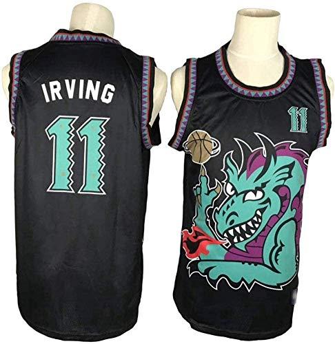 TGSCX Versión Retro NBA Jersey NBA Brooklyn Nets 11# Kyrie Irving Capacitación de Baloncesto Ropa Deportiva y Ocio Secado rápido Vestido sin Mangas Transpirable,XXL