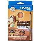LYRA Color-Giants Unlacquered Colored Pencils, 6.25mm Cores, Set of 12, Skin Tone Colors (3931124) Multicolour