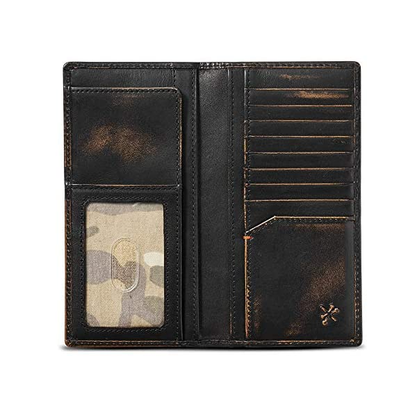 HOJ Co. DUCK Long Bifold Wallet | Full Grain Leather With Hand Burnished Finish | TALL Wallet | Rodeo Wallet | Duck Hunter Gift