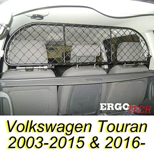 ERGOTECH Trennnetz Trenngitter Hundenetz Hundegitter für Volkswagen Touran BJ 2003-2015 und ab BJ 2016