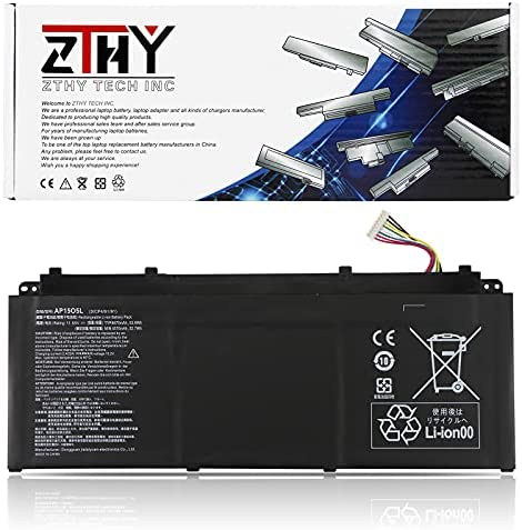 ZTHY AP15O5L Laptop Battery for Acer Aspire S13 S5-371 Chromebook R13 CB5-312T Swift 1 SF114-32 Swift 5 SF514-51 SF515-51T Predator Triton 700 PT715-51 Spin 5 SP513-52N SP513-52NP AP1505L 53.9Wh