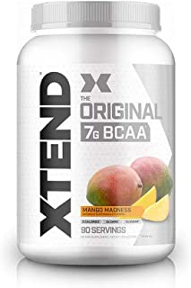 Xtend Original Bcaa Powder Mango Madness | Sugar Free Post Workout Muscle Recovery Drink with Amino Acids | 7g bcaas for Men & Women| 90 Servings