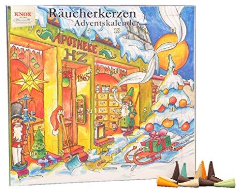 Knox Räucherkerzen-Adventskalender mit 24 himmlischen Düften (Weihnachtsapotheke)