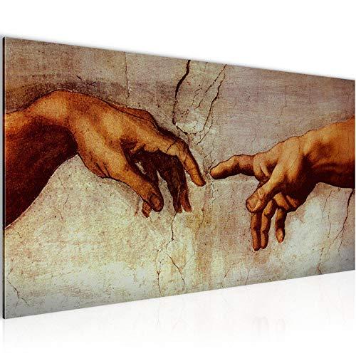 Wandbilder Creation of Adam Michelangelo Modern Vlies Leinwand Wohnzimmer Flur Hände Erschaffung Adams 700112a