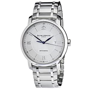 Baume & Mercier Men's MOA10085 Automatic Stainless Steel Silver Dial Watch image