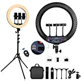 FOSITAN Ring Light Kit,【Upgraded】 18-inch Ring Light with 1.9M Tripod Stand and 3...