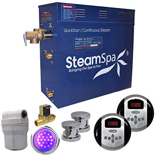 Best Buy! SteamSpa Royal 10.5 KW QuickStart Acu-Steam Bath Generator Package with Built-in Auto Drai...