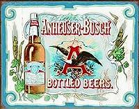 アンハイザーブッシュ-瓶ビールティンサイン