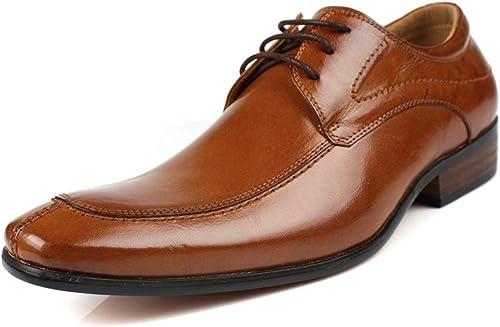 RSHENG Pour des hommes chaussures chaussures chaussures derby, cuir couture couture bout rond chaussures formelles chaussures de bureau d'affaires chaussures Oxford lacets à la main semelle en caoutchouc, Goodyear Welted f22