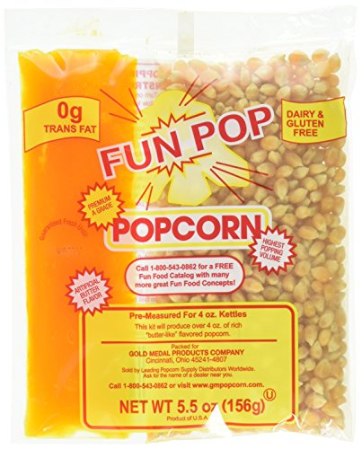 Gold Medal Fun-pop Popcorn Kit with coconut oil(Net weight 5.5 oz.) - 36 pk