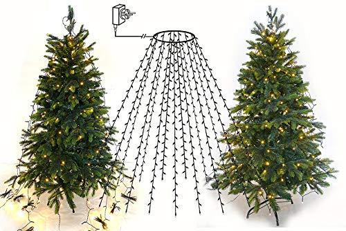 Baum-Lichterkette 480 LED, Drahtketten mit Ring, Christbaumbeleuchtung