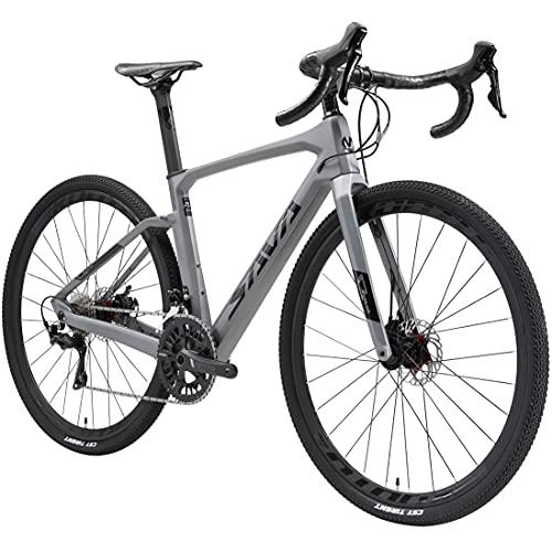 SAVADECK Bicicleta Carretera Carbona Gravel, 700CX40C Trail de Carbono Grava con Shimano 105 R7000 22